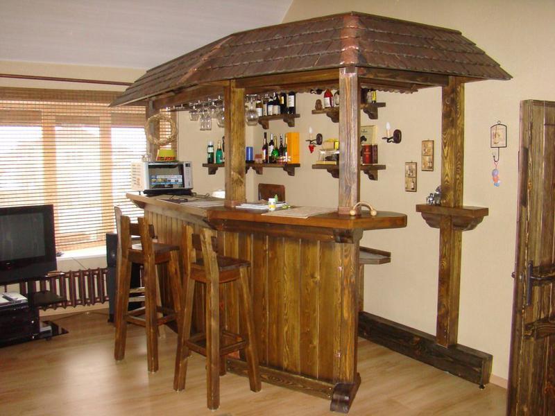 Деревянная барная стойка своими руками фото